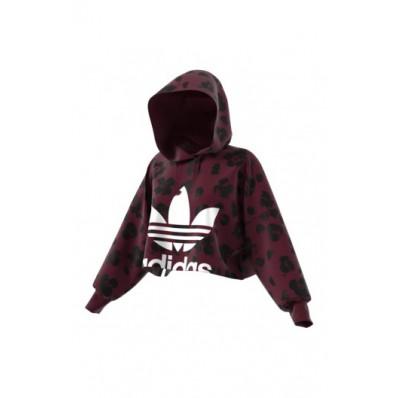 adidas cropped hood felpa donna