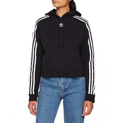 adidas cropped hoodie felpa donna