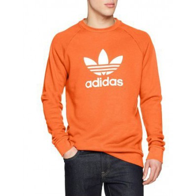 adidas felpa arancione