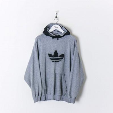 adidas fleece hoodie vintage