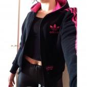 felpa adidas donna nera e rosa