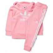felpa bambina adidas rosa